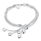 Custom Jewelry Silver Custom Adjustable Bangle Jewelry Silver Women Charm Plated Silver Bracelets For Ladies