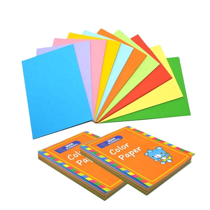 Красочная бумага для оригами для детского творчества