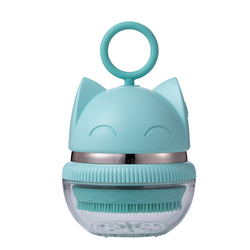 2021 latest waterproof Mini face cleaning acoustic high frequency vibration electric spin cleaning brush with built-in battery