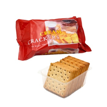 Halal Hot Sale 100g Cream Crackers Professional Biscuit Factory Cream Cracker