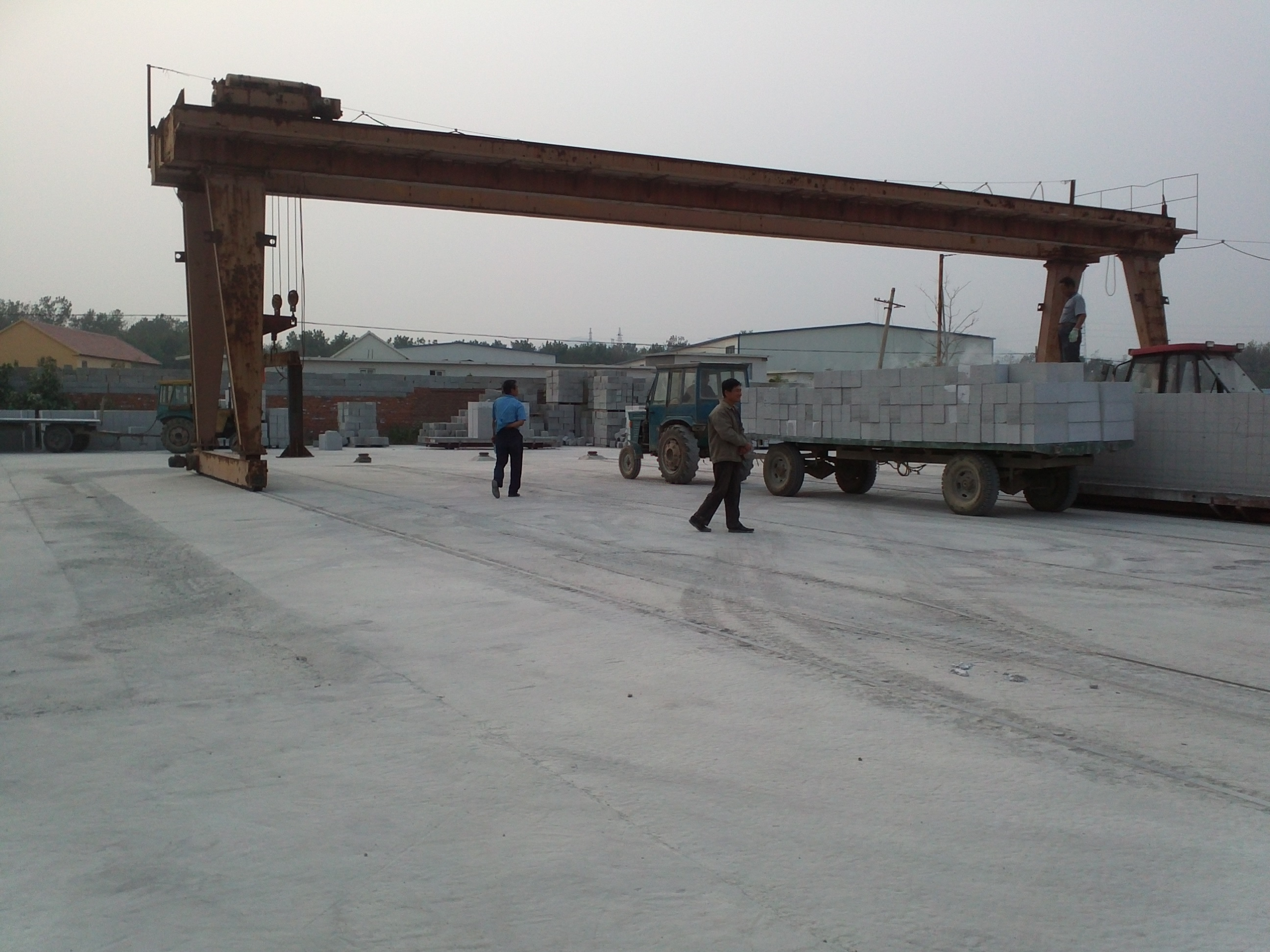 Hongfa brand AAC autoclaved aerated concrete gas block equipment price for production line