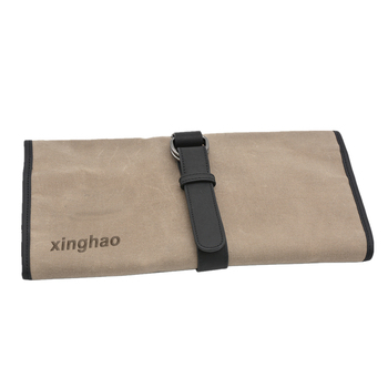 Vintage Canvas Roll Up Tool Bag Travel Bartender Tool Roll Bag Pouch