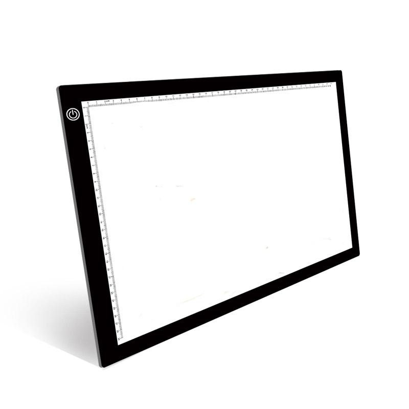 A4-6A питаемые через USB порт A4 анимационный рисунок Трассировка LED световая панель для с зеркалом заднего вида