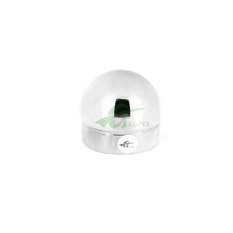 Круглый рельсовый баллюстрад 50 мм, шарик из нержавеющей стали, металлическая Заборная крышка