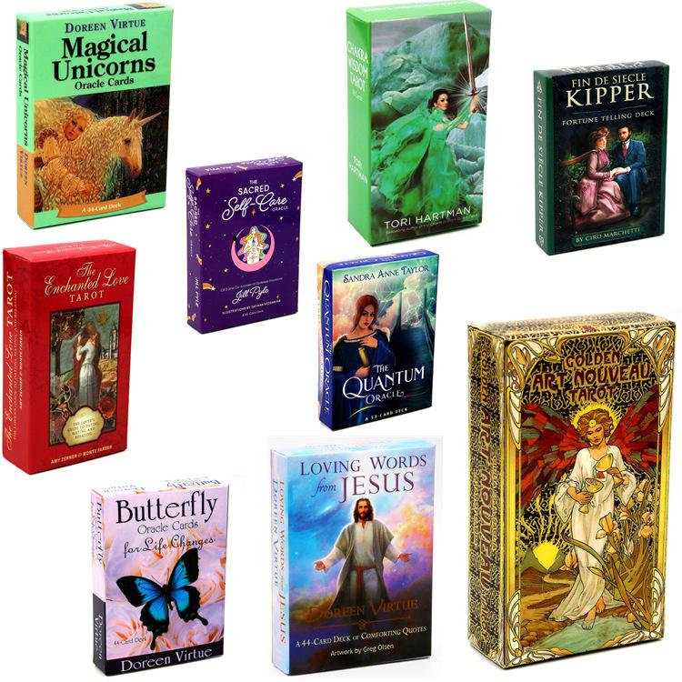 Amazon горячие с хорошим спросом и высоким качеством 19 видов стилей забавные карточные игры Волшебные изготовленные на заказ бумажные карты Таро
