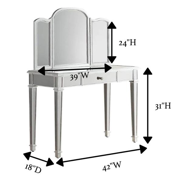 Горячая Распродажа, новый уникальный дизайн, современный туалетный столик с зеркалом