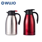 Coffee WUJO 2L 304 Coffee Pot Thermal Double Wall Stainless Steel Coffee Carafe
