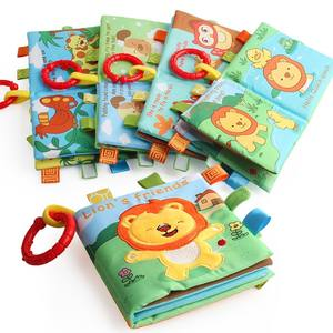 BNT Wholesale Safe and Non-toxic Sound Paper Cotton Cloth Book for Baby Playing