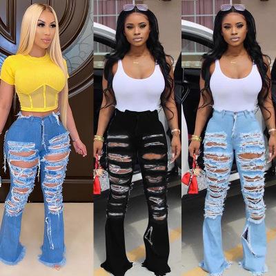 Pantalones Vaqueros Para Mujer F21314a Superventas Con Agujero Flor Ardiente Personalidad Altavoz De Calle Buy Jeans Mujer Jeans Mujer Pantalones Vaqueros Product On Alibaba Com