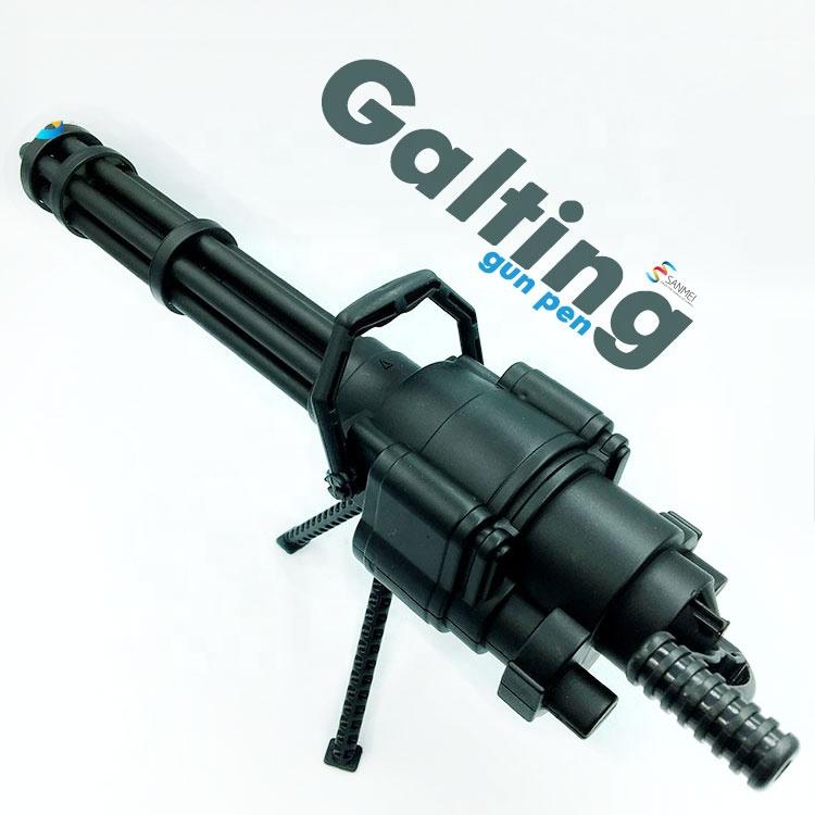 30 см Необычные гэтлин форма игрушки пистолеты гатлинг шариковая ручка