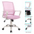 USA STOCK Mid-Back Big Ergonomic Office Lumbar Support Mesh Computer Desk Task Chair with Armrests