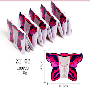 Wholesale Extension Form For Nails Extend 100pcs/Roll Custom Forms Oem Paper Tray Press On Nail Arts Tool