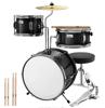 Black 3 pic drum set