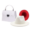 White hat and purse set