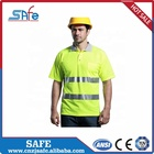 Work Safety Shirt Orange Color Safety Work Construction T Shirt With Pockets