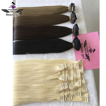 factory vendors golden russian remy human hair 24 inch seamless clip ins 4c hair extension