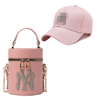 2021 New Trendy NY Purses and Handbags Lady Luxury Women NY Hats and Bags Fashion Designer PU Leather LA Hats and Purse Set