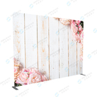 Wedding Decoration Wedding Decoration Backdrop Wedding Decoration Tension Fabric Straight Display Advertising Backdrop Stand
