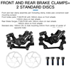 Front And Rear Brake Clamps+2 Standard Discs Black