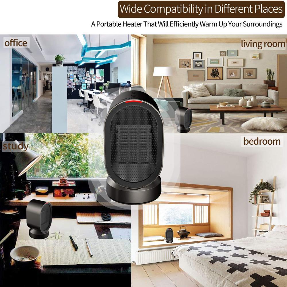 Good price good quality mini fan heater mini electric air heater fan