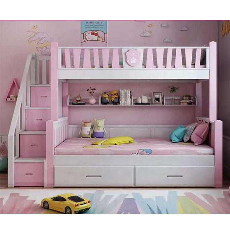 Kids Bunk Bed With Storage For Girls Children Wooden Bunk Bed With Slide Bunk Bed For Kids Buy High Quality Kids Bunk Bed For Girls Children Wooden Bunk Bed Kids Bunk Bed With