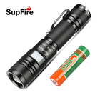 SupFire led torch light CREE 10w 1000lm rechargeable aluminum pocket mini torch 18650 led flashlights zoomable flashlight