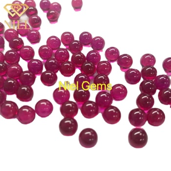 5# 3mm rubin 5mm synthetic 10mm corundum 8mm ball rubi red ruby beads
