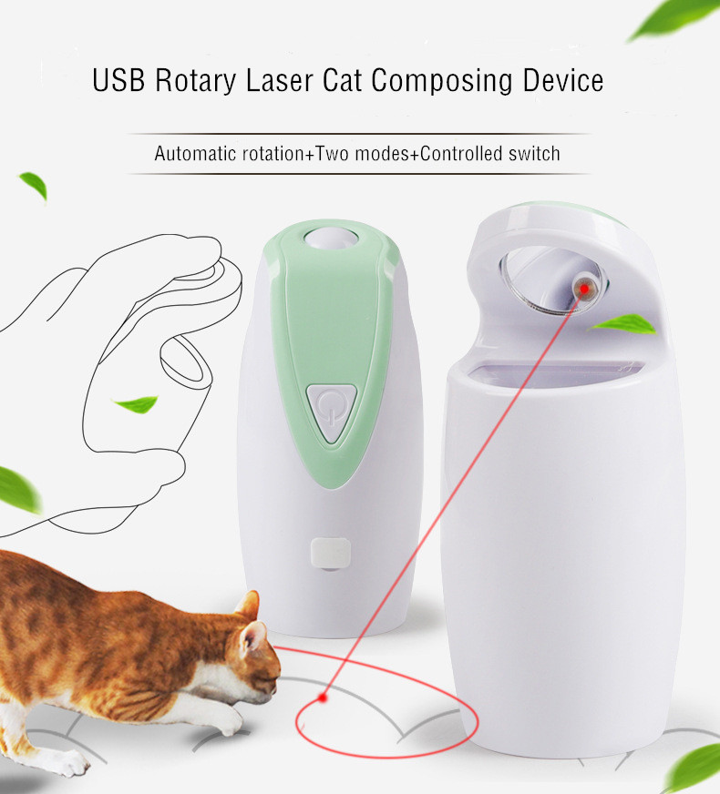 Hot selling 360 Degree Interactive Cat Toy  Self Rotating USB Charging Electronic  Automatic Light Toy Pet  Cat Laser Toy