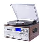 Cd Player High End Multiple Retro All In 1 Turntable Music Center Usb Cd Cassette Player For Sale
