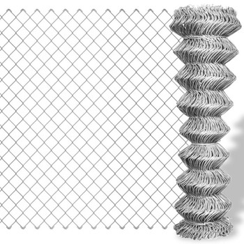 Most Popular galvanized cyclone wire length of the roll chain link galvanised fence