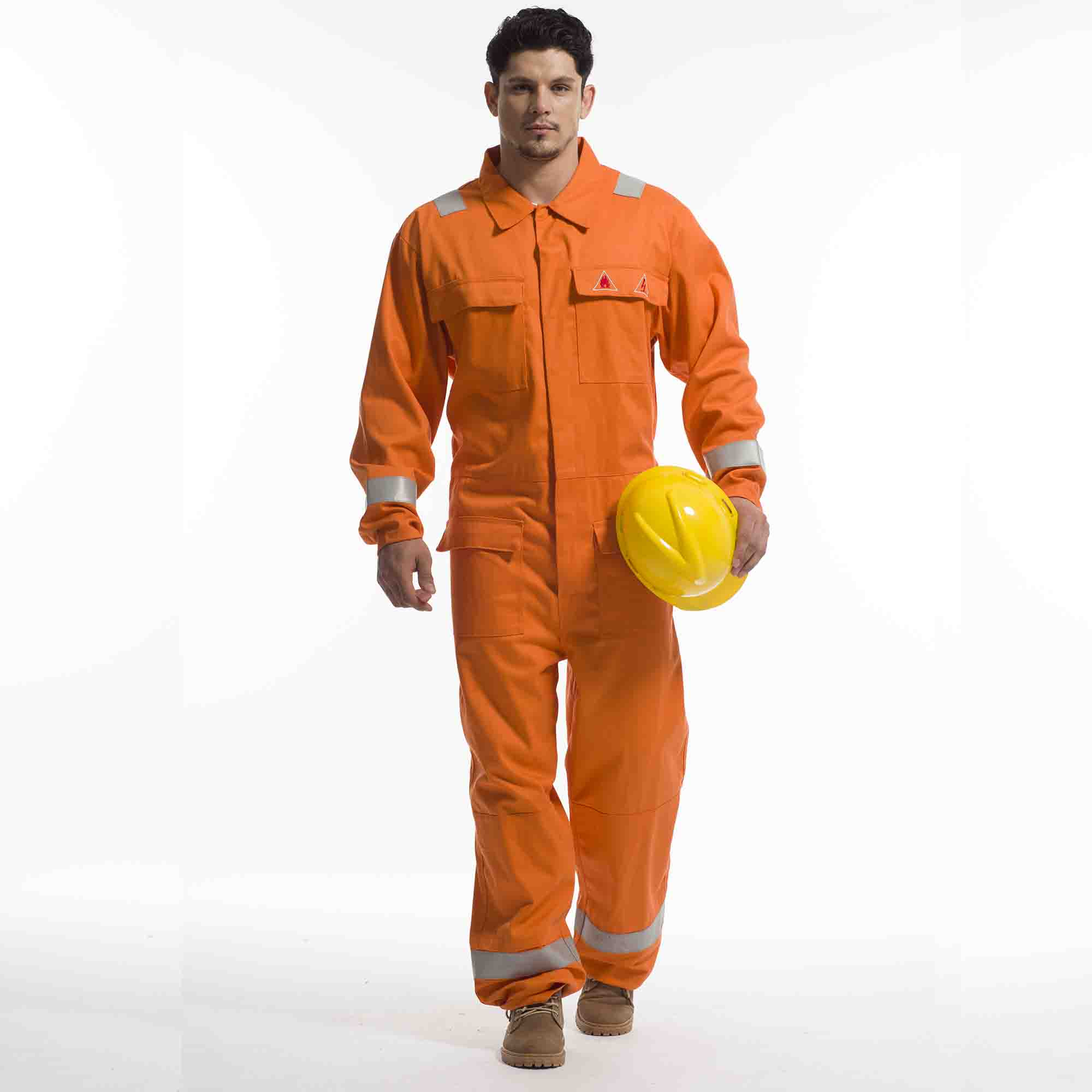 Flame Retardant Coverall Overall Reflective Work Outfit - KingCare | KingCare.net