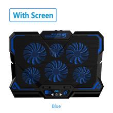 Новый 17 дюймовый игровой кулер для ноутбука с шестью вентиляторами, светодиодный экран с двумя usb-портами 2600 об/мин, охлаждающая подставка д...(Китай)