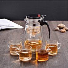 Чайные горшки для заварки чая, термостойкие стеклянные чайные сервизы, китайские чайные сервизы, две чашки чайника, кофейная стеклянная коф...(Китай)