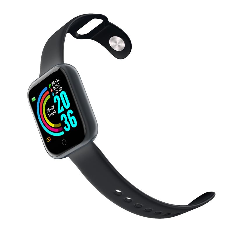 Fashion 2020 Heart Rate Waterproof Tracker Blood Smartwatch Y68 Bt Fitness Smart Watch Strap