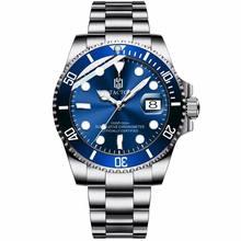 2019 Роскошные мужские часы Tacto, твердые, нержавеющая сталь, Rolexable часы для мужчин, ныряльщик, Gmt, спортивные наручные часы, дата 50 м, водонепрони...(Китай)