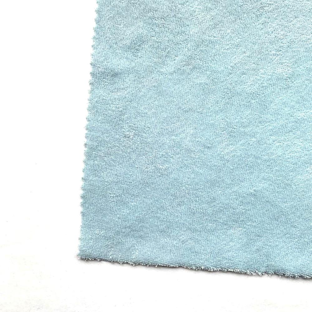 solid towel fabric 100 polyester terry towelling fabric for roll
