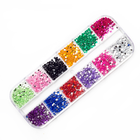 Nail Decoration Wholesale Price Colorful Diamond 12 Stlyle Each Box For Nail Decoration Rhinestone