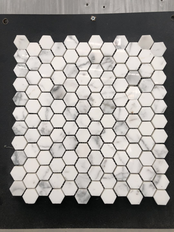 Мраморная мозаичная плитка, классический узор, шестигранная, калаката, мраморная, каррарская белая мозаика
