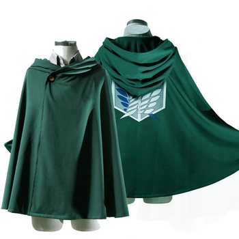 UFOGIFT Japanese Hoodie Shingeki no Kyojin Scouting Legion Cosplay Costume anime cosplay green Cape Attack on Titan Cloak