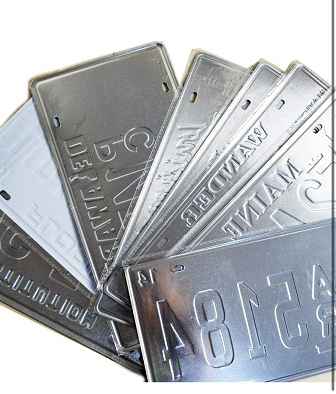 hot selling Aluminum embossed  original US License Plate for different states