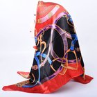 Pattern Scarf 2021 Pattern Silk Scarf Bandana Head Wrap Square Scarf Fashion New The Chain Of Printing 90 Square Satin Scarf Printing