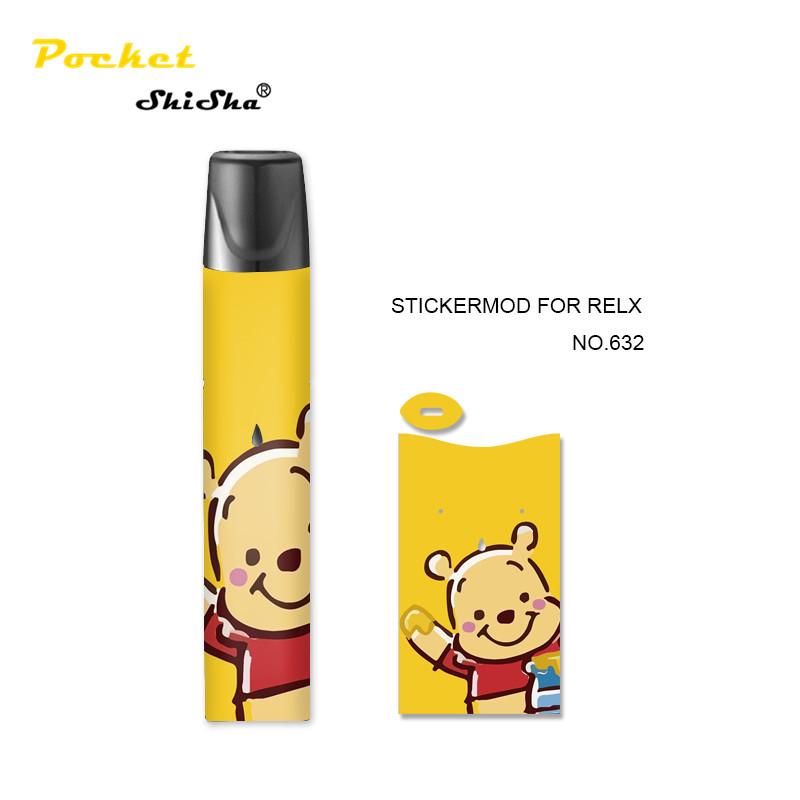 2020 new arrivals electronic cigarette accessories OEM vape pen cover Relx pod kit paper sticker - MrVaper.net