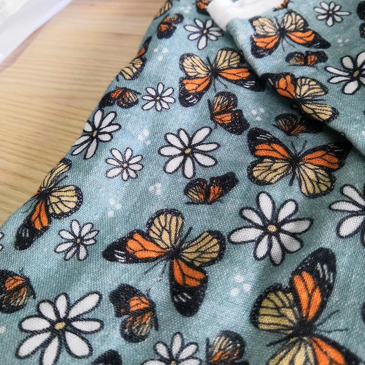 Индивидуальные Швейные материалы 100% хлопчатобумажная ткань муслиновая детская Корейская цифровая печать хлопчатобумажная ткань