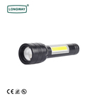 Outdoor Waterproof Hand LED Torch Lamp Outdoor Longway Waterproof LED Tactical Self-Defense Camping Flashlight