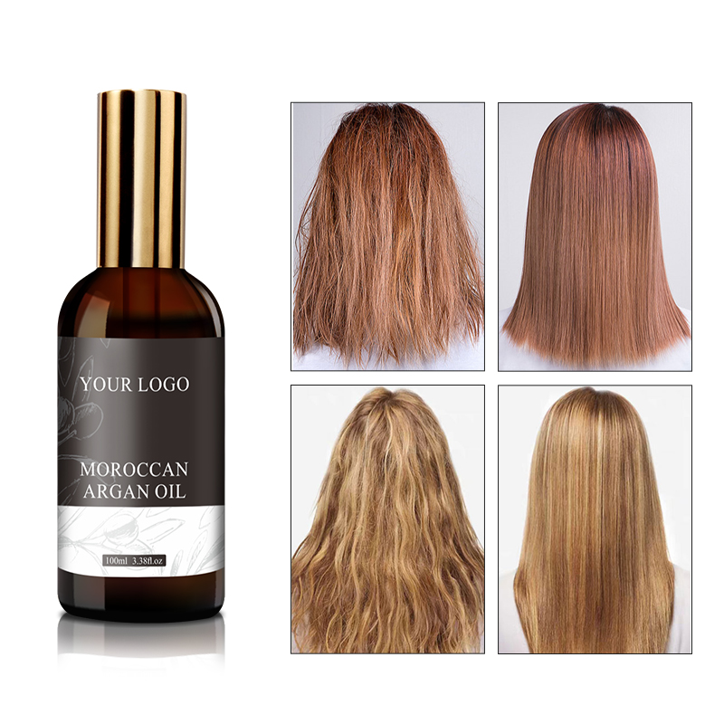 Private Label Hair Serum Oil Natural Organic Moroccan Argan Oil