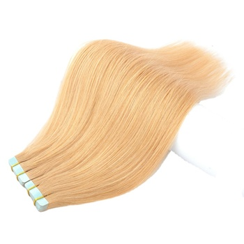 Cuticle Aligned Tape Hair Extension, Double Drawn Invisible European Hair, Remy Skin Weft 100% Human Hair