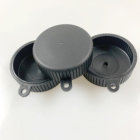 custom made plastic cap soft plastic injection parts rubber products made of shore A 80 black TPE/TPR