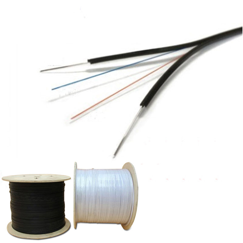 FTTH Outdoor Black LSZH PVC Optical Fiber Core G652D G657A1 G675A2 2 Cores 2 Nucleos Drop Cable with Steel Wire FRP Strength - idealCable | idealCable.net