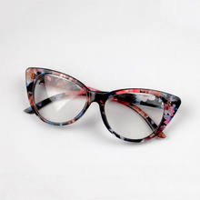 Seemfly оправа для очков в стиле кошачьи глаза ретро модные мужские женские прозрачные линзы очки винтажные сексуальные оптические очки кошач...(Китай)