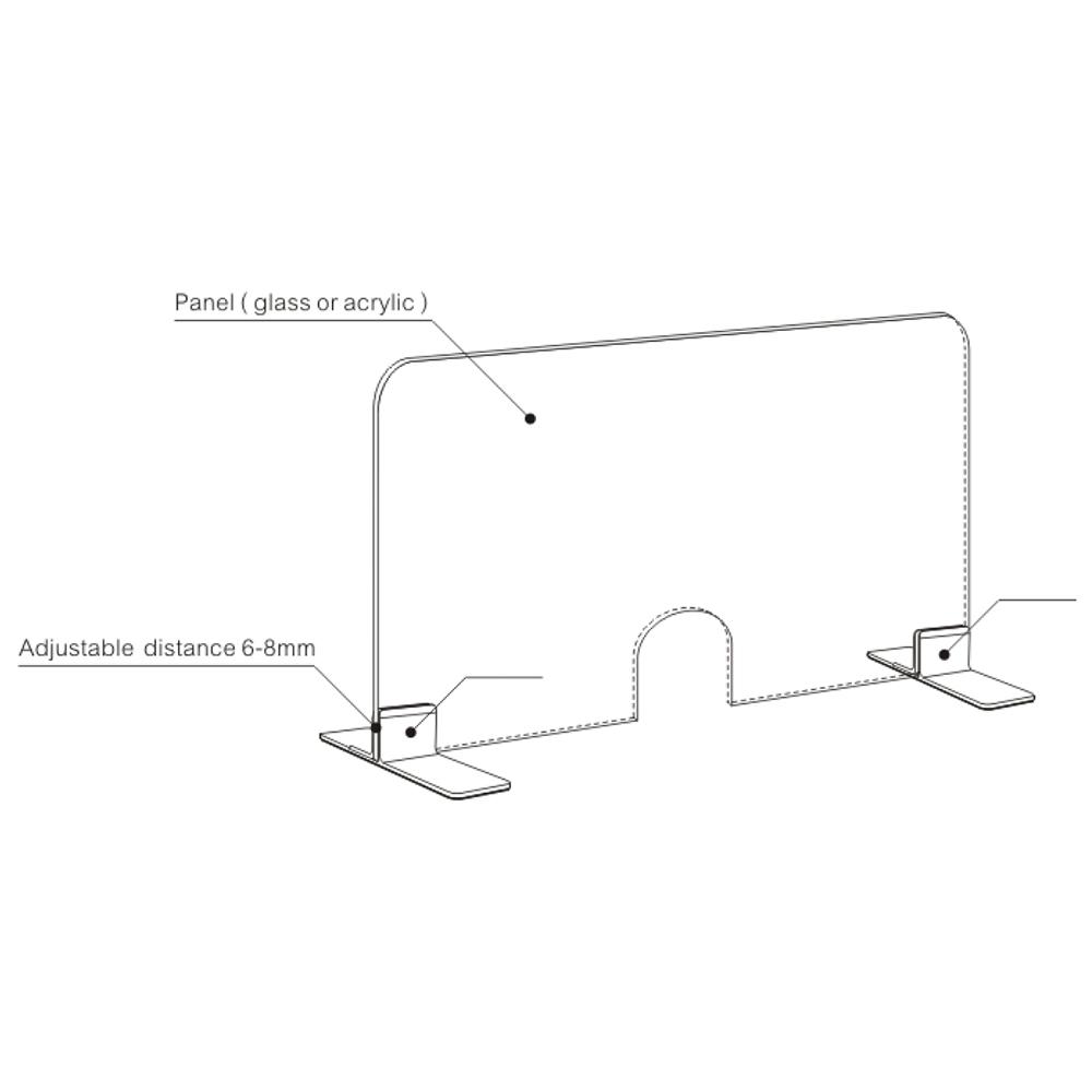 Алюминиевый подвижной офисный Настольный перегородка защитный барьер зажим защитный акриловая панель зажим